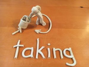 word meaning of taking