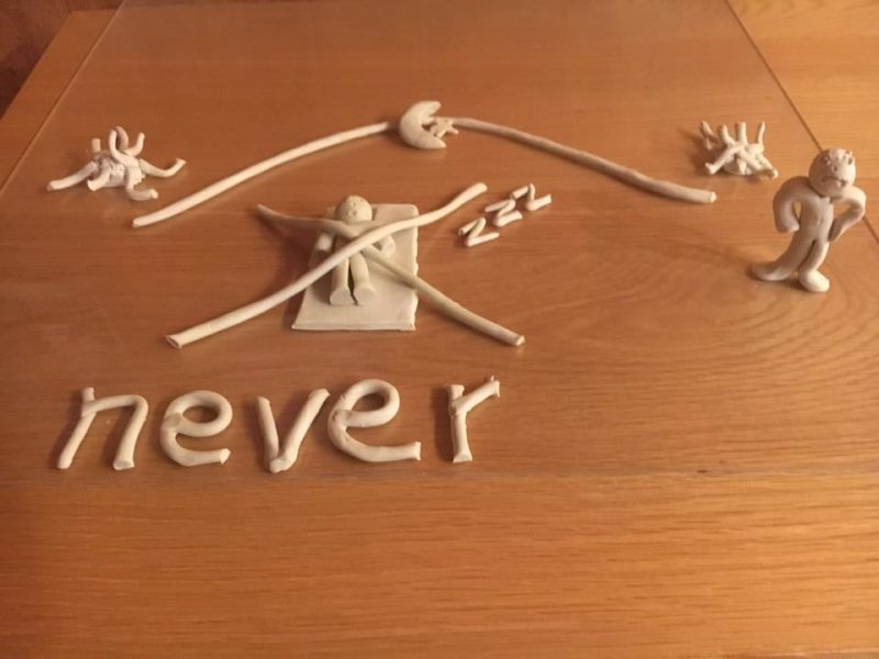 clay model of never